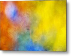 Colorful Abstract Painting Metal Print by Christina Rollo.  All metal prints are professionally printed, packaged, and shipped within 3 - 4 business days and delivered ready-to-hang on your wall. Choose from multiple sizes and mounting options.