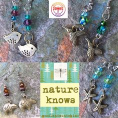https://www.etsy.com/listing/526733364/you-choose-earrings-from-my-natures Nature is my constant companion and inspiration. I decided it was time to truly honor and embrace Mother Nature, by creating her peace, wisdom, and essence in my hand-crafted, one of a kind pieces! Be still and Listen....Nature Knows