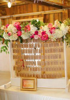 Wedding reception seating chart idea; Featured Photographer: Ashley West Photography