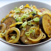 Dr. Andrew Weil's recipe for stir-fried eggplant is a spicy-sweet take on a healthy dish.