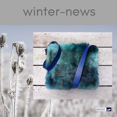 Awesome shoulderbag made of skai vegan leather in petrol blue and faux fur in blue/light blue/brownish. Leatherbelt in blue. Colourful lining cotton material with orchid/leaf prints. At http://www.wagnerstrasse.de #handmadeingermany #handmadeatamazon #shoulderbag #blue #schultertasche #umhängetasche