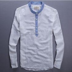men shirt mandarin collar - Google Search