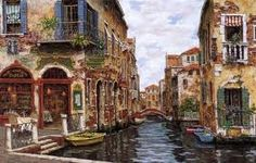 Always been a dream of mine to see Venice, this painting really captures the beauty of the city. Venice Wallpaper, Painting Wallpaper, Painting Art, Mac Wallpaper, Russian Landscape, Urban Landscape, Landscape Photos, Landscape Paintings, Rue Lafayette Paris