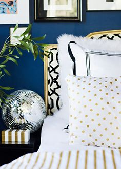 Decorating for Christmas: Different Textures in Bedroom Decorated for Christmas