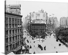 Premium Thick-Wrap Canvas Wall Art Print entitled Vintage photograph of Broadway and Fifth Avenue, New York City, None