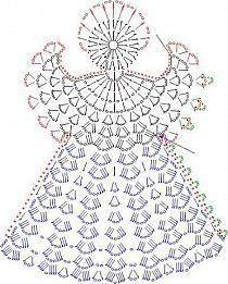 Engelchen, gehäkelt---crochet for x-mas....