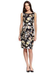 M&S Collection - Vestido recto de algodón con diseño floral -M&S