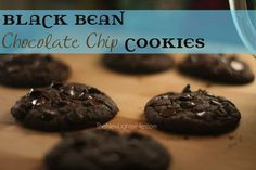 THM S ~ Black Bean Chocolate Chip Cookies ~ Trim Healthy Mama (Fiber from the Beans keeps the carb count down which keeps it in S territory)