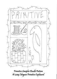 free primitive star pattern | stitchery Candle Mat Pattern - Megans Primitive Cupboard