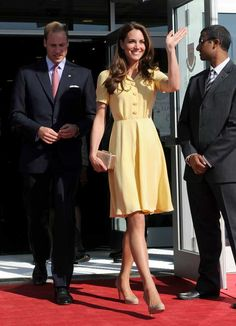 Kate Middleton in yellow.
