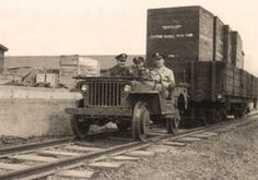 World War II saw the creation of one of America's most beloved vehicles, the Jeep. Now primarily produced for consumer use, the Jeep was once a military Military Jeep, Military Vehicles, President Of The Philippines, Amphibious Vehicle, Willys Mb, Rail Transport, Bonde, Railroad Photography, Three's Company