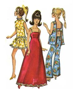 1960s Barbie Doll Clothes Patterns 8466 Bell by BlondiesSpot