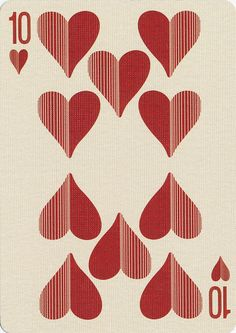 Uusi's Royal Optik Playing Cards / Ten Of Hearts Queen Of Hearts Card, Ace Of Hearts, Printable Playing Cards, Card Tattoo Designs, Hearts Playing Cards, Matching Sister Tattoos, Tarot, Heart Illustration, Anniversary Cards