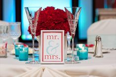 Red and Tiffany-blue wedding inspiration | The Merry Bride
