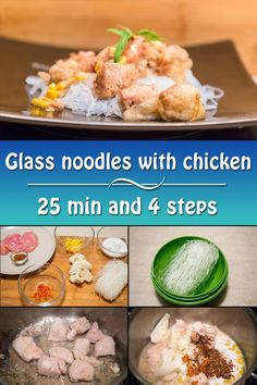 """Glass noodles are """"starch"""" or """"Chinese"""" noodles are popular in Asian cuisine."""