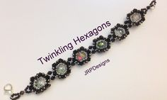 Twinkling Hexagons Bracelet--Intermediate Level Part 1