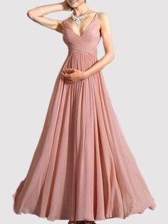 94e0cc5448ba Buy Vintage Surplice Chiffon Plain Maxi-dress online with cheap prices and  discover fashion Maxi