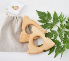Wooden Teether A piece of cheese New baby teething toy Baby shower Eco friendly Toy Handmade Baby toy Wooden Pacifier
