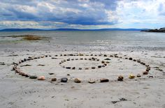 Awesome art works at Grattan beach. Mandala Project by Marie Flaherty. Many beautiful creations!