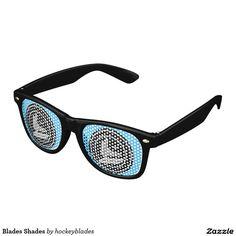 Blades Shades Wayfarer Your fantasy hockey team's future is so bright, you gotta wear shades. Wayfarer Sunglasses, Mirrored Sunglasses, Keep It Cleaner, Blade, Lens, Swag, Pouch, Hockey, Bright