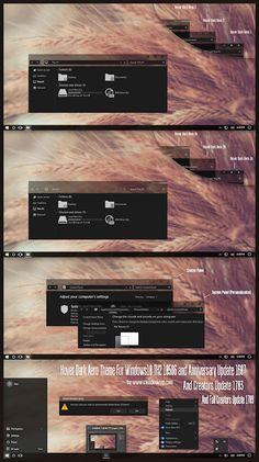 Hover Dark Aero Theme Windows10 Fall Creators Update 1709  Download https://www.cleodesktop.com/2017/12/hover-dark-aero-theme-windows10-fall.html #Cleodesktop #Windows10