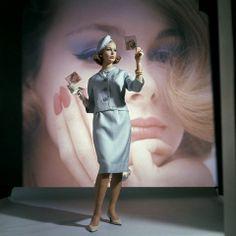Monique Chevalier in Sportswhirl Couture, photo by Sante Forlano, 1962