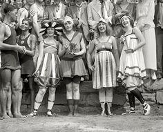 Bathing beach parade at Tidal Basin.Washington, D.C. July 26, 1919