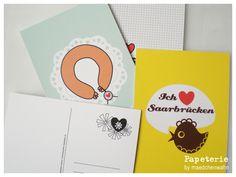 SAARLAND+Postkarten,+4er+Set,+UH14+++Saarland+von+maedchenwahn+auf+DaWanda.com