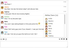 Example of Embedded Chat Room - iFlyChat