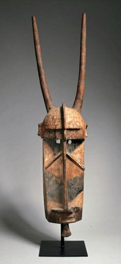 Africa | Mask from the Mossi people of Burkina Faso | Wood and pigment | ca. prior to 1944
