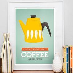Morning Coffee (caffettiera gialla)