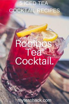 Iced tea cocktails are always a good idea to freshen up in summer. Iced Tea Recipes, Best Cocktail Recipes, Detox Recipes, Coffee Recipes, Detox Foods, Alcoholic Iced Tea, Iced Tea Cocktails, Longjing Tea, Best Tea Brands