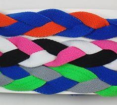 3 PACK! Extreme Sports Braided Mini NON SLIP Sports Headband (Royal Blue Orange-Pink Black… Review