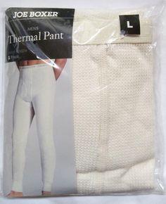 """Joe Boxer Thermal Pant  Large ( 36 - 38 ) """" Ecru """" New #JoeBoxer #Thermal"""