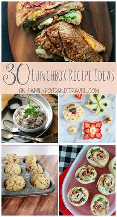 Are your kids tired of the boring pb & j sandwiches packed in their lunchboxes? Well change up their meals with any of these easy 30 Lunchbox Recipe Ideas! With recipes covering everything from the main dish to snacks, your kids will love lunch time again!   30 Lunchbox Recipe Ideas: Apple Cinnamon Granola Bars …