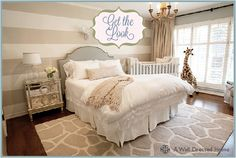 I LOVE THIS TOO!  Guest Bedroom/Nursery - The Perch | A Peacock Blog