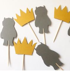 Where the wild things are cupcake toppers by StripestoSparkle
