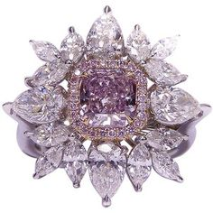 fancy+pink+things | Fancy Pink Purple Diamond Ring