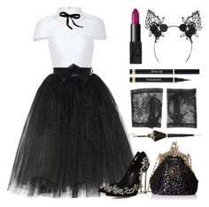 """Halloween Party Queen"" by queenofspades97 ❤ liked on Polyvore featuring Ballet Beautiful, Cushnie Et Ochs, Emporio Armani, Mimi Holliday by Damaris, Yves Saint Laurent, NARS Cosmetics, Marni, Pasotti Ombrelli, Gucci and Halloween"