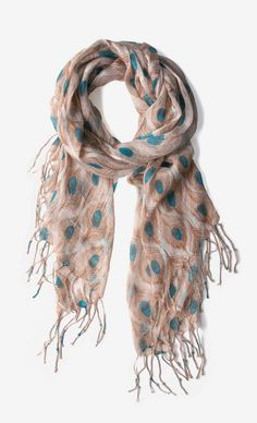 All Eyes on Me Scarf. love the gorgeous peacock feather print! Feather Scarf, Feather Print, Peacock Print, Peacock Pattern, Peacock Theme, Feather Design, Neck Accessories, Fashion Accessories, Cute Scarfs