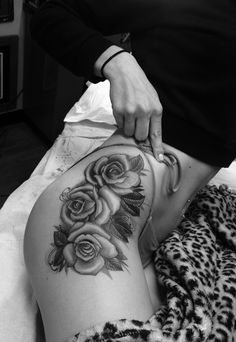 so glad i finally did it :) rose hip tattoo