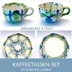 b42_kaffeetassen_vertbleu_sel Natural Selection, Coffee Cups, Simple Lines, Tablewares