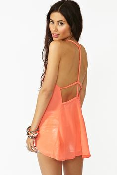 Braided Chiffon Tank in Coral... just bought it in purple!