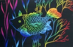 Scratch Art Fish