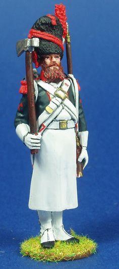 NP 168 FUSILEROS DE INFANTERIA DE LINEA 1804-1805 ZAPADOR Lead Soldiers, Toy Soldiers, Military Uniforms, Napoleonic Wars, Figure Model, Troops, Diorama, Arms, French