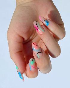 Frensh Nails, Edgy Nails, Funky Nails, Stylish Nails, Trendy Nail Art, Matte Nails, Neon Nails, Funky Nail Art, Bright Nails