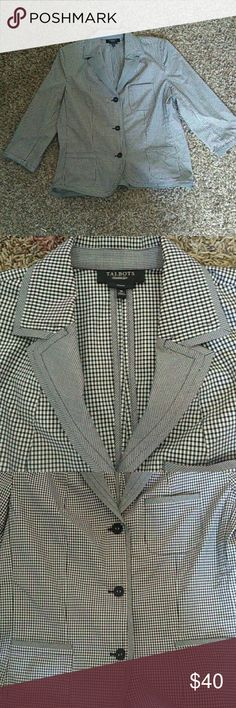 Talbots Checked Blazer Good condition. Size 16. Talbots Jackets & Coats Blazers