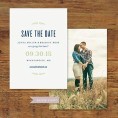 Huckleberry Rustic Save the Date by southelliott on Etsy