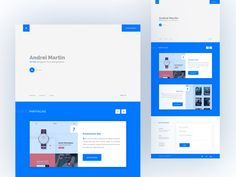 Personal Portfolio Web by Sultan Mahmud #Design Popular #Dribbble #shots