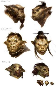 goblins, hobgoblins and bugbears Fantasy Races, Fantasy Rpg, Fantasy Artwork, Creature Concept Art, Creature Design, Character Art, Character Design, Hobgoblin, Fantasy Monster